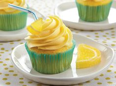 Enjoy a citrusy twist on regular cupcakes made with Betty Crocker� SuperMoist� cake mix � perfect for dessert.