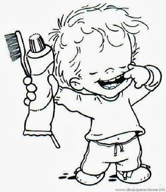 Personal hygiene coloring pages for kids, 120 pages in total. Dental Kids, Dental Art, Dental Health Month, Oral Health, Health Care, Child Teaching, Personal Hygiene, Teaching Materials, Digi Stamps