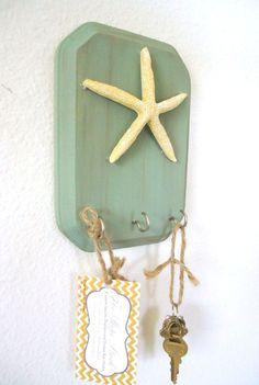339318153145578058 Key Holder   Key Hook Beach Decor Starfish 3 Silver Hooks   House warming gift on Etsy, $15.50