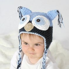handmade child's owl hat by ruby & custard | notonthehighstreet.com