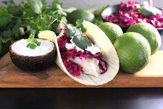 Baked Fish Tacos and more healthy baked fish recipes on MyNaturalFamily.com #fish #recipe