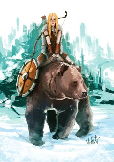 Viking girl, Vladimir Lemajic on ArtStation at https://www.artstation.com/artwork/Zdz6G