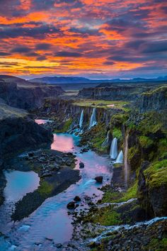 15 jaw-droppingly beautiful waterfalls in Iceland - Travel Destinations Beautiful Places To Travel, Cool Places To Visit, Places To Go, Beautiful Vacation Spots, Wonderful Places, Beautiful Waterfalls, Beautiful Landscapes, Aloita Resort, Nature Architecture