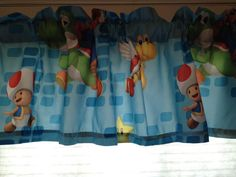 ~✂~ This listing is for a custom made Super Mario Brothers Microfiber un-lined fabric valance extra wide. If you have a larger window or want a