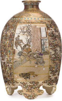 An unusual Satsuma vase Meiji era (late 19th century)