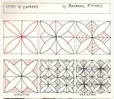 How to draw 4 CORNERS « TanglePatterns.com