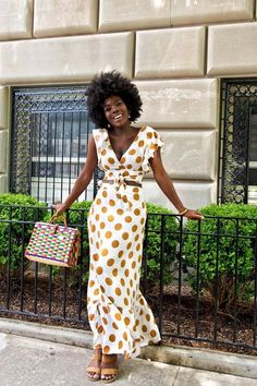 WEAR UNEXPECTED POLKA DOTS. 31 Outfit Ideas for Every Day in July #purewow #street style #fashion #outfitideas #summer #style #trends . #julyoutfits #summerstyle #summeroutfits #summerdress #polkadots