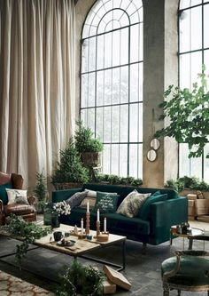 55 ideas home living room modern plants for 2019 Cozy Living Rooms, Living Room Modern, Apartment Living, Living Room Furniture, Living Room Decor, Apartment Therapy, Bedroom Decor, Wall Decor, Bedroom Plants