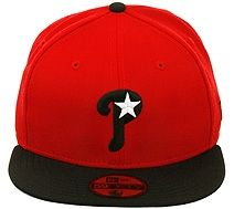 8aa5c2a433d New Era 2Tone Philadelphia Phillies P-Star Fitted Hat (Jordan Bred XI) -  Red