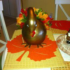 Gourd Turkey I Made