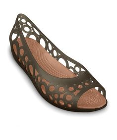 Take a look at this Espresso & Bronze Adrina Flat - Women by Crocs on #zulily today!