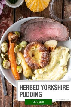 Herbed Yokshire Pudding recipe is perfect for Sunday Roast, family meals or any holiday. They come together quickly, easily and I've got all the tips to guarantee success!