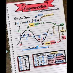 📚📝✍️Trigonometria - Função Seno 📚📝✍️ Importante revisar as principais características da função seno❗️❗️❗️ . . . #enem2018 #enem… Mental Map, Maths Solutions, Physics And Mathematics, Study Organization, Math About Me, Math Notebooks, School Notes, Study Hard, English Study