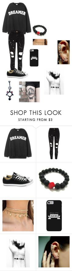 """""""Jasper mate jazzmin school outfit chap1"""" by cosplayer2001 ❤ liked on Polyvore featuring Converse, Mike Saatji and Halftone Bodyworks"""
