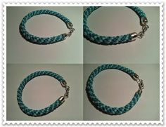 Kézművelő műhely: Kék kumihimo karkötő Kumihimo bracelet
