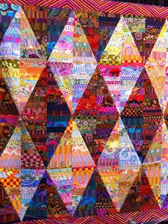 Liza Prior Lucy & Kaffe Fassett....amazingly beautiful! Art quilt diamonds