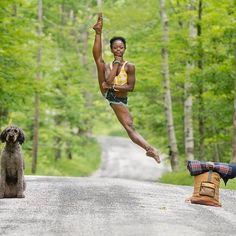 The amazing Michaela DePrince and amazing photo by Jordan Matter!