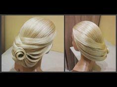 Коктейльная прическа ✨Cocktail hairstyle tutorial✨ - YouTube