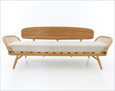 Daybed, designed and manufactured by Lucian Ercolani for Ercol, circa, 1960's. Superb example of British post war modern design. Love Vintage Furniture £1595
