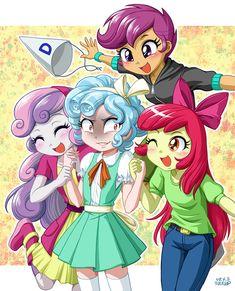 Cozy Glow and the CMC by uotapo My Little Pony Games, My Little Pony Characters, My Little Pony Drawing, Mlp My Little Pony, My Little Pony Friendship, Equestria Girls, Powerpuff Girls, Little Poni, Mlp Fan Art