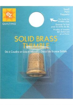 Simplicity® EZ Quilting Solid Brass Thimble, Small $2.50
