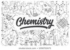 Illustration about Hand drawn chemistry doodle set. Chemistry Projects, Chemistry Drawing, Chemistry Art, Hand Doodles, Note Doodles, Science Doodles, Science Art, Notebook Cover Design, Mugs