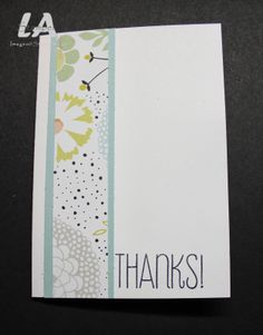 Clean & simple with patterned paper. Sweet Sorbet DSP, Stampin' Up! SAB 2014, LA Stamper Simple Cards