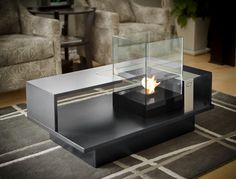 Level Compact   Decorpro Tired of the same old, same old? The typical floor lamp, the generic sconce? Introducing the Level Compact coffee table. Maximize your space with this multi-functional coffee table and tabletop fireburner in one hot product. Enjoy it with a cuppa Joe, or a nightcap. This is where great conversations are made. Around a Level Compact coffee table. Available in 43 colors.