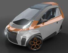 μrban, une voiture électrique qui se faufile partout grâce à ses trois roues Rs4, Automobile, E Mobility, Beach Cars, Microcar, Reverse Trike, 3rd Wheel, Smart Car, City Car