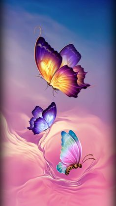 Butterflies wallpaper by Sixty_Days - 16 - Free on ZEDGE™ Butterfly Wallpaper Iphone, Heart Wallpaper, Cute Wallpaper Backgrounds, Colorful Wallpaper, Cellphone Wallpaper, Flower Wallpaper, Screen Wallpaper, Trendy Wallpaper, Phone Wallpapers