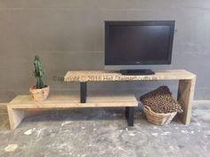 NIEUW!!! TV Meubel Industrieel Flex     het Steigerhouthuis Wood Sofa, Wood Furniture, Fireplace Tv Wall, Tv Cabinet Design, Ikea, Tv Cabinets, Decoration, Interior Inspiration, Creative Design
