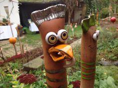 Tag der offenen Ateliers – Wagram Kreativ Slab Pottery, Garden Art, Polymer Clay, Birds, Hens, Woods, Pottery Ideas, Figurines, Clay