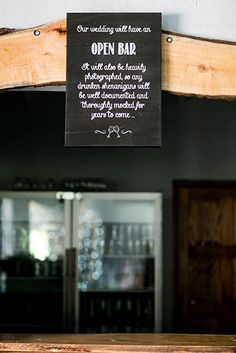 Bar sign designed by The Poppy Seed Collective and printed on canvas. Oh what fun!