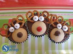 Reindeer Cupcakes - easy fun Christmas treat (the kids loved it!)