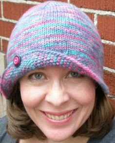 Free knitting pattern for a reversible cloche hat. More free knitting patterns for hats at http://intheloopknitting.com