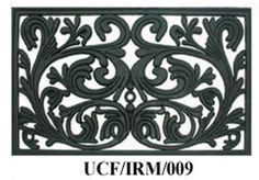 Royal Scroll - Cast Iron Vulcanized Rubber Rectangle Outdoor Mat 18x30 by Iron Gate - Classic styling and Ultra-Strong construction - Heavy duty rubber with the look of iron - Welcome your guests with this high quality doormat by Iron Gate, http://www.amazon.com/dp/B009AB1R98/ref=cm_sw_r_pi_dp_0soCrb0VP9ZEF
