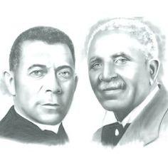 Portrait of Booker T. Washington and George Washington Carver