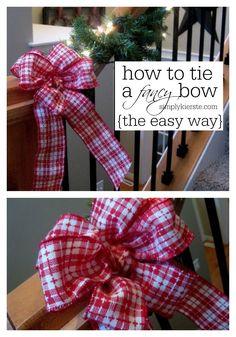 How to Tie a Fancy Bow   simplykierste.com