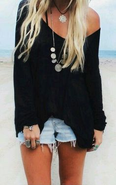 The layered necklaces are cute • Boho Style