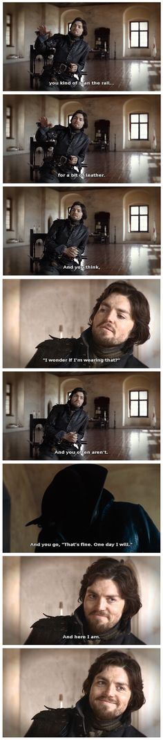 One of Tom Burke's interviews for the series 1 DVD extras. Loved this bit and that smile at the end... Gosh he looks smug <3