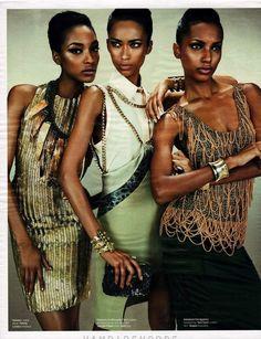 Anais Mali, Jourdan Dunn, Jasmine Tookes  by Emma Summerton styling by Giovanna Battaglia / W