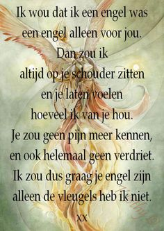 Gedicht: 'Ik wou dat ik een engel was.' Dutch Words, Word Board, I Believe In Angels, Dutch Quotes, Cool Writing, Romantic Quotes, Cool Words, Life Lessons, Texts