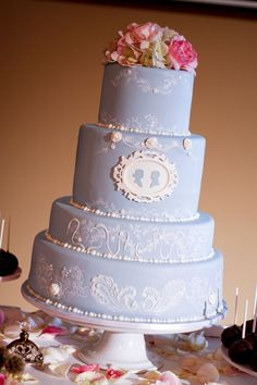 Something Blue Wedgewood  Wedding Cakes by Rachel Teufel