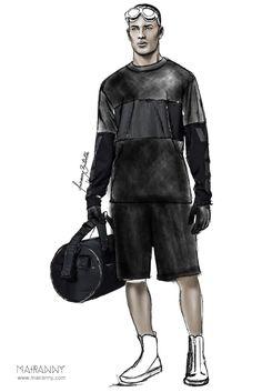 ALEXANDER WANG X HM FALL/WINTER 2014 Fashion Illustration by Mairanny Batista