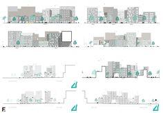facade - Housing, architecture visualization, Housing design