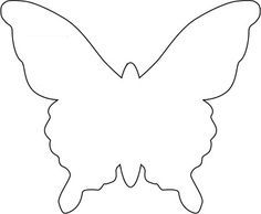 Butterfly Template   She Used To Make A Mobile   Bjl
