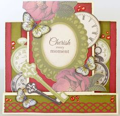 A step card by Kelly-ann Oosterbeek made using the Generations Collection from Kaisercraft. www.amothersart.com.au