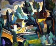 French Landscape Artwork by André Lhote
