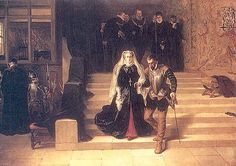 Mary Queen of Scots being led to execution early on the morning of February 8, 1587.