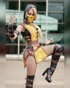 Cosplay: Scorpion (Mortal Kombat) by rociocosplayer Cosplay Lindo, Cute Cosplay, Cosplay Diy, Amazing Cosplay, Cosplay Outfits, Best Cosplay, Cosplay Girls, Anime Cosplay, Mortal Kombat Cosplay